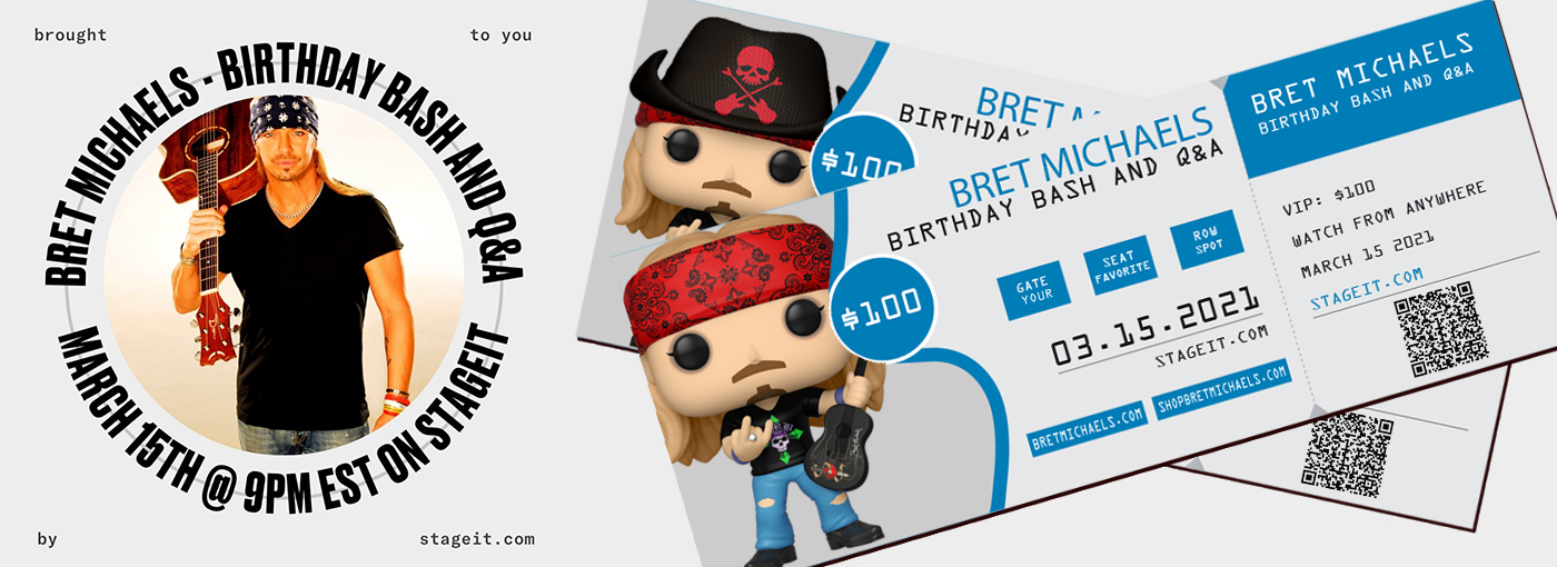 Bret Michaels Birthday Bash March 15 2021 StageIt.com
