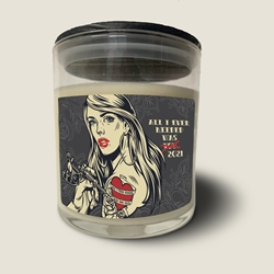 All I Ever Needed Was You/2021 Jar Candle Bret Michaels, Brett Michaels, Bret Micheals, Brett Micheals, LIfestyle, Style, Life, Collection, Home, Inspiration, gifts, candle, LOVE+PLUS, French lavender, pine branches, Italian bergamot, red cedar, oakmoss, earthy, masculine
