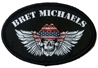 Bret Michaels Red, White and Blue Winged Skull Patch Bret Michaels, Brett Michaels, Bret Micheals, Brett Micheals, American Flag, Red, White, Blue, Patch