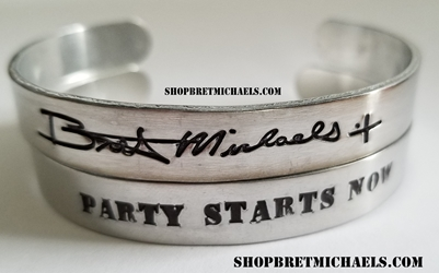 Bret Michaels Signature Aluminum Party Starts Now Cuff Set