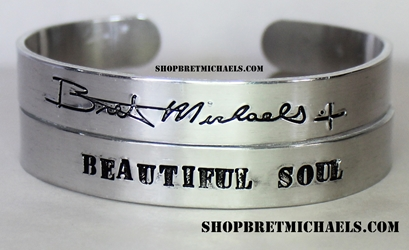 Bret Michaels Signature Aluminum Beautiful Soul Cuff Set
