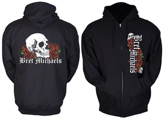 Bret Michaels Skull & Roses Hoodie (graphic front)