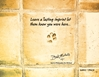 Leave an Imprint Postcard (Gold Tone)