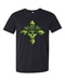 Lime Green BMB Cross Skull Tee  - 30014LG-SM