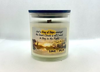 Ray of Hope LOvE+PLuS Candle Jar Bret Michaels, Brett Michaels, Bret Micheals, Brett Micheals, LIfestyle, Style, Life, Collection, Home, Inspiration, gifts, candle, LOVE+PLUS, Ray of Hope