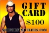 ShopBretMichaels.com Gift Certificate - $100 Bret Michaels, Brett Michaels, Bret Micheals, Brett Micheals, LIfestyle, Style, Life, Collection, Home, Inspiration, gifts, apparel, shirts, stationary, post cards, posters, photos