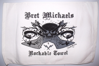 White Bret Michaels Rockable Towel