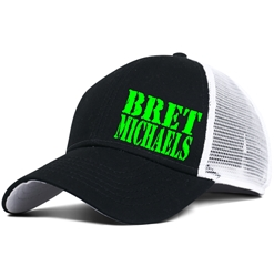 Bret Michaels Lime Green Hat