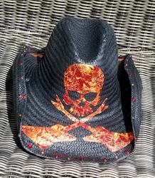BMB Crossed Guitars Cowboy Hat (Orange/Red/Yellow)