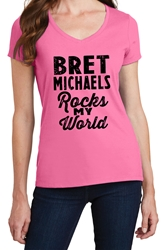 Bret Michaels Rocks My World Pink Tee