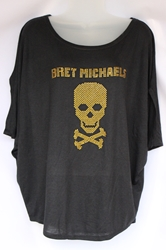 Bret Michaels Jeweled Skull Top bret michaels, jeweled, rhinestones, top, ladies, apparel, official, liscened