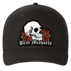 Bret Michaels Skull & Roses Baseball Hat