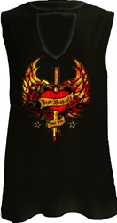 Bret Michaels Soul Fire Cut Neck Tank