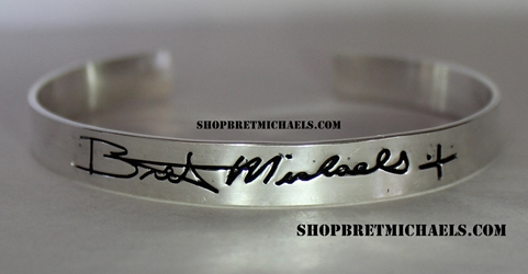 Bret Michaels Sterling Silver Signature Cuff Bracelet